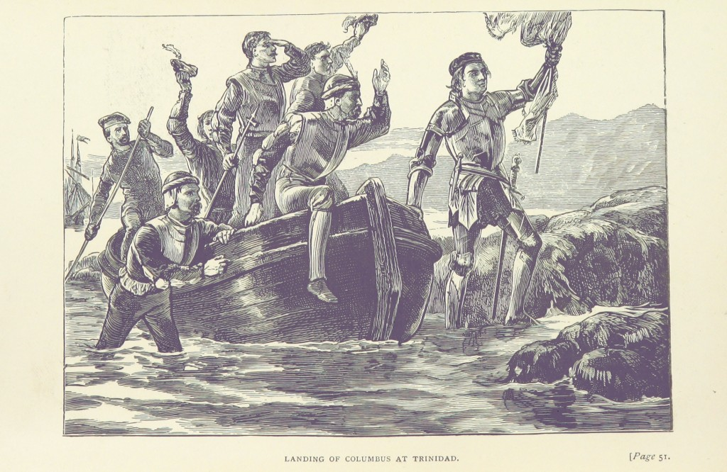 'Columbus landing at Trinidad', From Famous Voyagers and Explorers, 1893, The British Library [public domain]