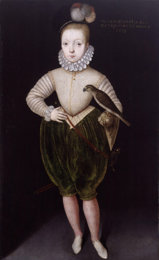 'James VI as a young boy', King James I of England and VI of Scotland by Arnold van Brounckhorst.jpg, Public Domain