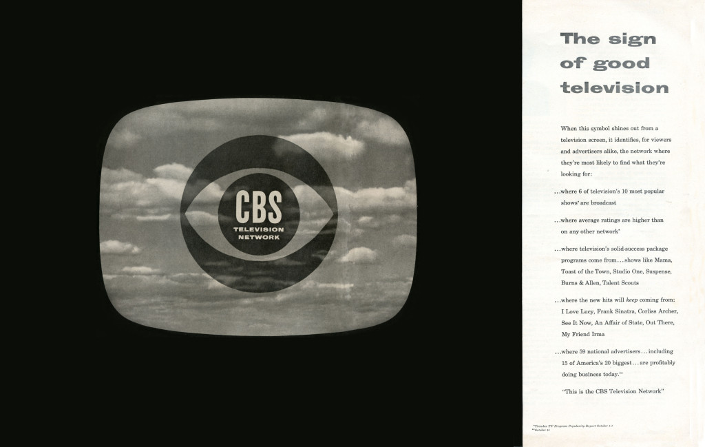 By McCann-Erickson advertising agency for the Columbia Broadcasting System. [Public domain], via Wikimedia Commons