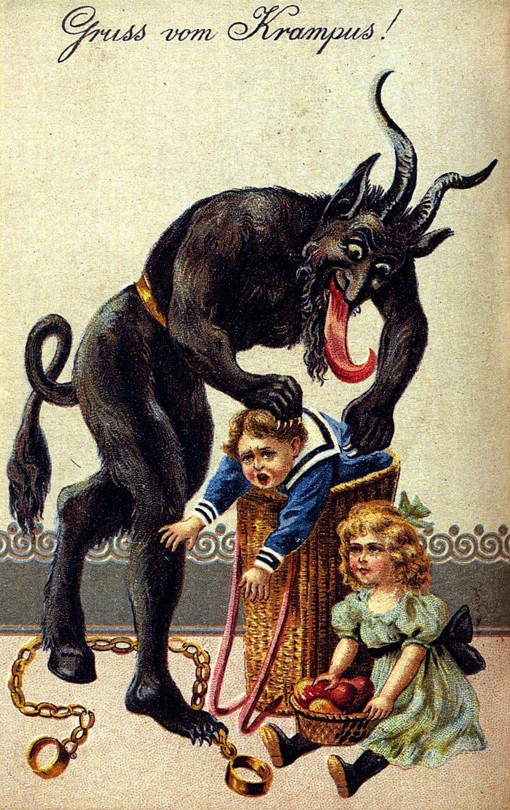 http://en.wikipedia.org/wiki/Krampus#/media/File:Gruss_vom_Krampus.jpg