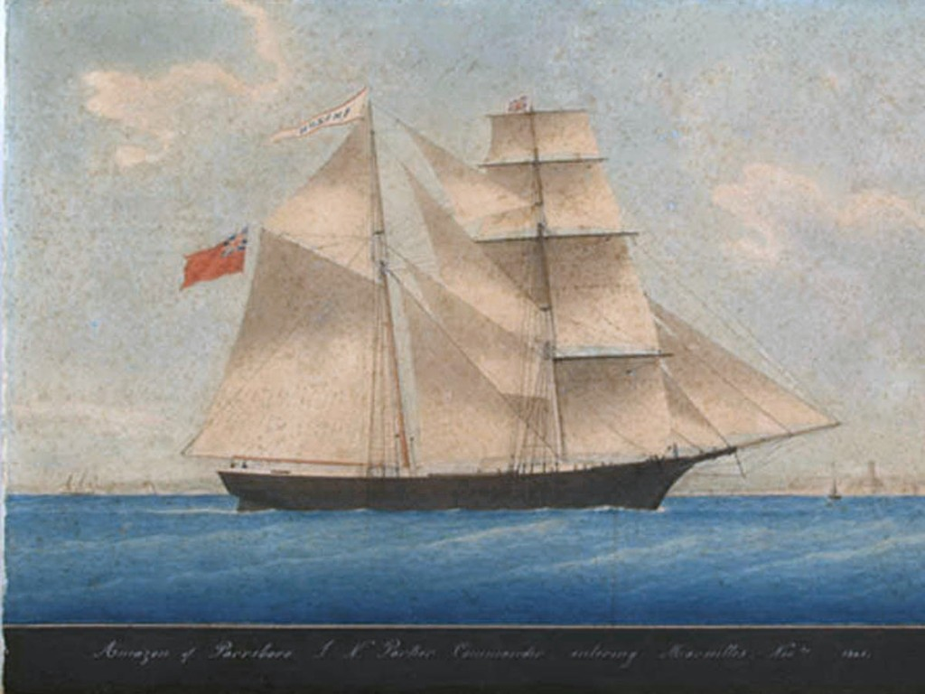By Unconfirmed, possibly Honore Pellegrin (1800–c.1870). This speculative attribution is suggested in Paul Begg: Mary Celeste: The Greatest Mystery of the Sea. Longmans Education Ltd, Harlow (UK) 2007. Plate 2 (Scanned from Slate magazine, December 6 2011) [Public domain], via Wikimedia Commons